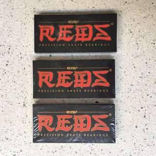 3 packs = 24pcs Bones Reds skateboard Bewrings