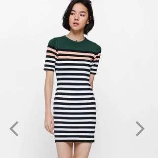 BNWT Reysha Striped Knit Dress
