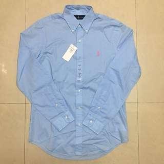 🚚 POLO淺藍色長袖襯衫(新品 英國購入)