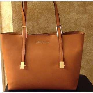 Antonio Melani Cognac Leather Tote