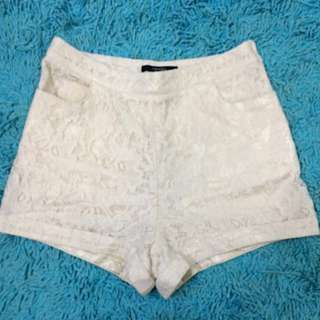 Forever 21 high waisted lace shorts