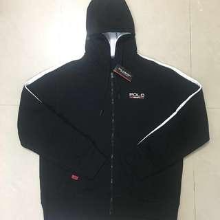 🚚 POLO SPORT黑色運動棉外套(新品 英國購入)