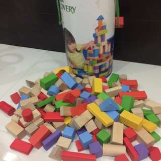Wooden block set for kids educational toy puzzle to enhance their imagination & discovery