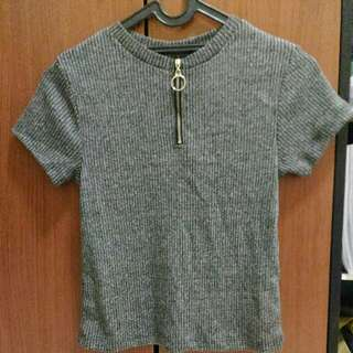 Neck Tee With Ring