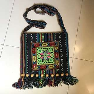 Ethnic Embroidery Sling Bag