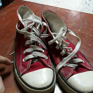 converse high cut red