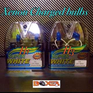 H1, H3 Xenon Charged Bulbs