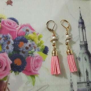 Tassel Earrings - Peach