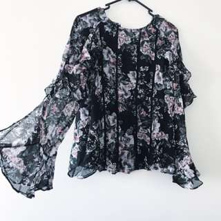 Forever new floral blouse