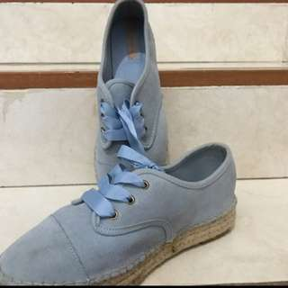 Stradivarius Blue Shoes