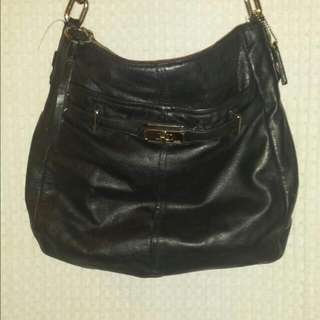 Black Leather Authentic Purse