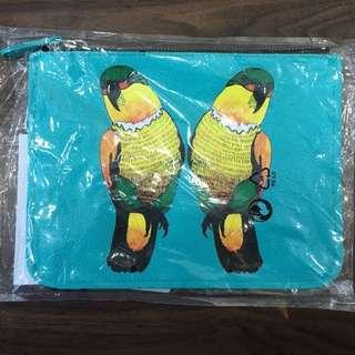 鸚鵡💐手拿包 筆袋
