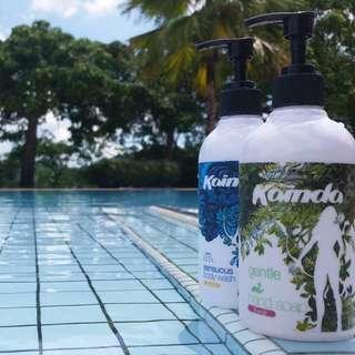 kainda sensous body wash + gentle hand wash combo