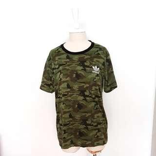 Adidas Army Green Camouflage Tee