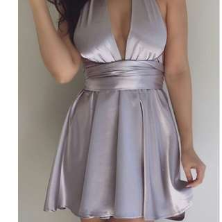 Silver Chiffon Boutique Dress