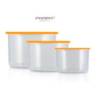 Set of 3 Stackable Air-Tight Food Canister