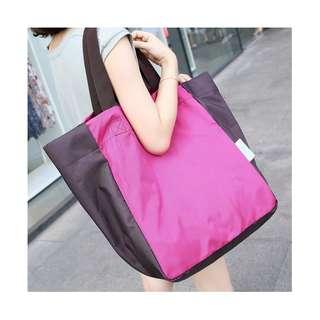 🚚 摺疊便攜大容量購物袋 上學包媽媽包 防水可手提單肩背 質好耐重