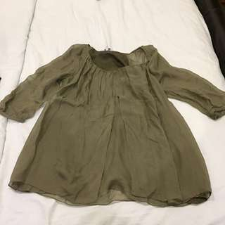 Mamas and Papas maternity blouse small U.K can wear till 40 weeks for sure