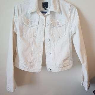 Gap Kids White denim jacket  (L)