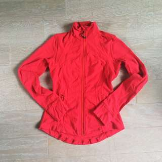 Lululemon Red Zip Up Size 6