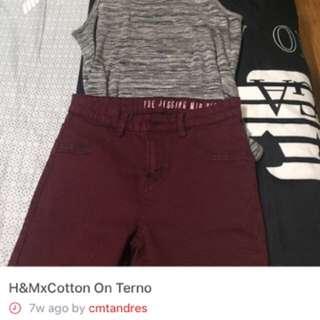 H&M COTTON ON TERNO