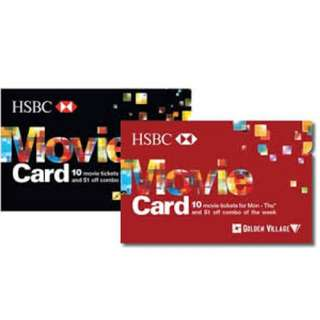 HSBC Golden Village Movie Card - Gold Class / All day / Weekdays
