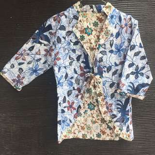 Outer / blazer batik formal bolak balik 2 model