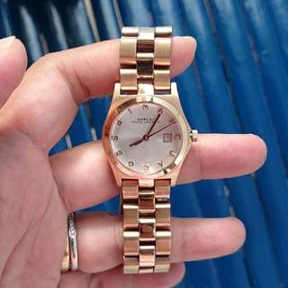 auth Marc Jacobs rose gold watch