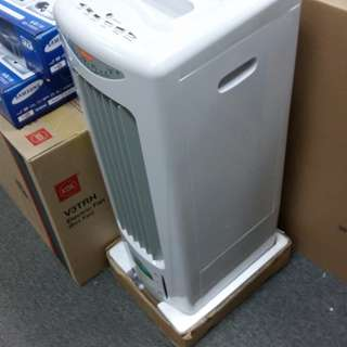 Multi-functional cooler, air refresher, ivory white new licensed 1 year warranty   MIDEA  BIG  FACTORY  MADE  保用1年  美的 大廠造  IOS     FAMOUS 法國名家 環保冷氣加濕扇 多功能涼風機,省電 80W瓦 全新行貨 附搖控器. 負離子搖控冷氣扇     with four rounds
