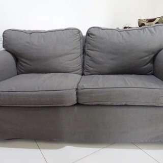 Ikea - Erktop Dark Grey, Two Seat Sofa