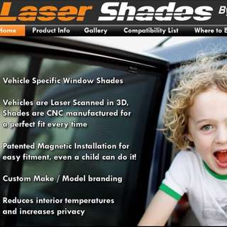 Toyota altis laser shade for 2008-2013 model 5 piece
