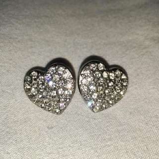 GUESS Heart Earrings