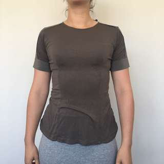 Herringbone Brown Top - Sz 4/6