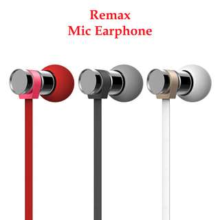 Remax RM 565i Stainless Steel HIFI Earphone Earpiece Headphone Mobile Accessories