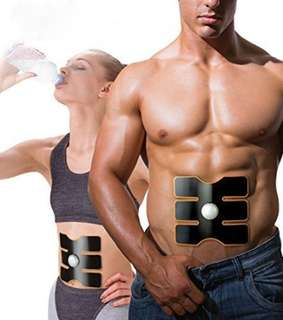 NEW! EMS ABS Fitness Firming Muscle Training 6 Pad Gym Sport Slim