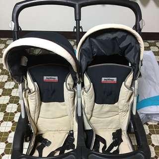 雙胞胎雙人推車-輕巧