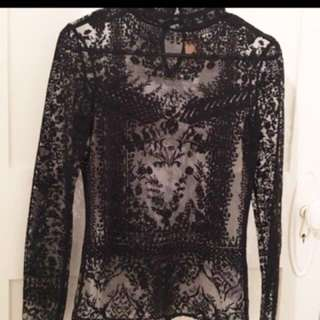 Beshka Lace and Mesh top