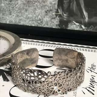 Antique Stunning Sterling Silver  Cuff  Bangle 🌟