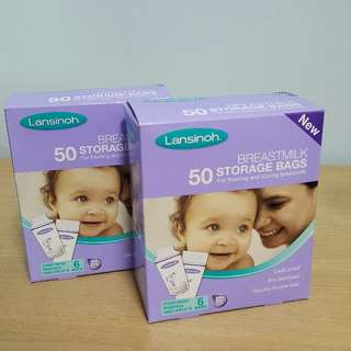 Lansinoh breast milk storage bag and Lucky Baby breast pad