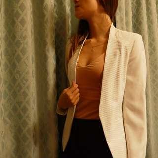 Topshop white blazer XS