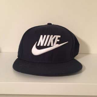 Navy blue Nike snap back