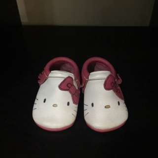 Baby Shoes Leather Hello Kitty Moccasin