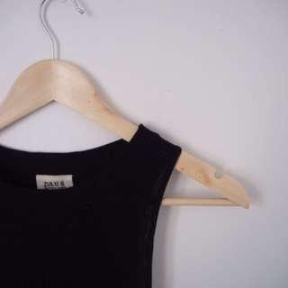 Zulu & Zephyr black ribbed knit singlet / mini dress