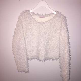 'Supre' fluffy cropped pullover