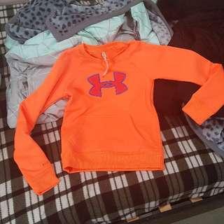 under armour jumper fluro orange xs