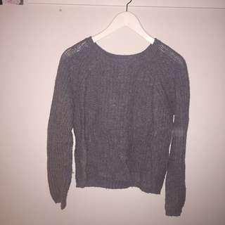 'Cotton on' grey knit sweater