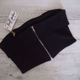 Missguided black bustier