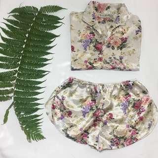 Two Piece Silk Pyjama Set