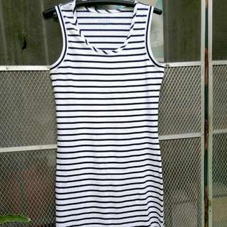 Cotton Stretchable Stripe Dress