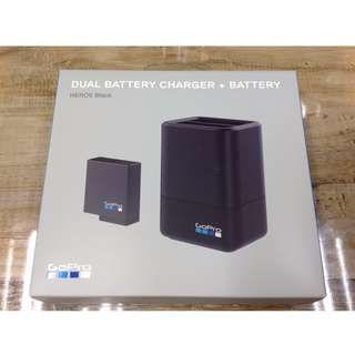 Go Pro Dual Battery Charger + Battery for Hero 5